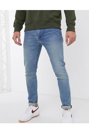 Levi's 512 slim tapered fit jeans in pelican rust mid wash