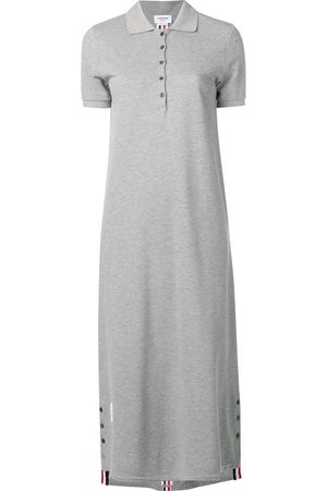 Thom Browne Center-Back Stripe Long Polo Dress