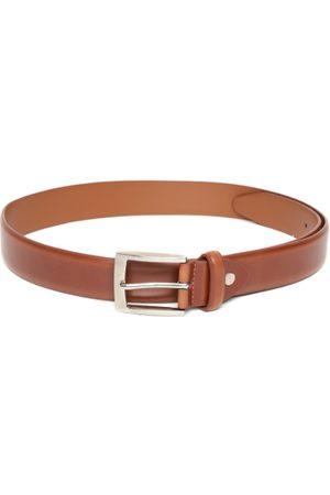 Lino Perros Men Tan Brown Solid Leather Belt