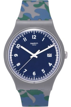 Swatch Unisex Navy Blue Swiss-Made Analogue Watch SUOM400