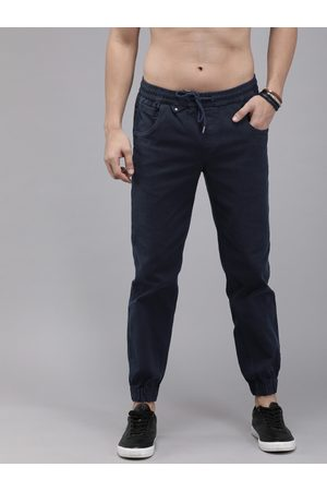 Roadster Men Navy Blue Solid Joggers