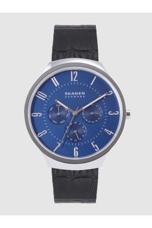 Skagen Men Blue Analogue Leather Watch SKW6535_SOR