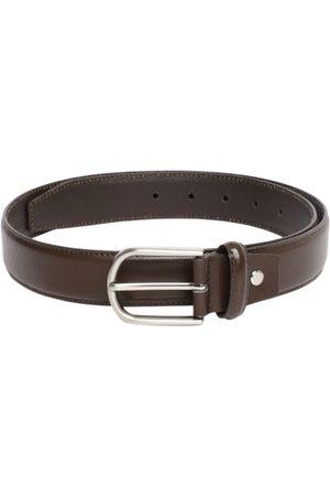 Mast & Harbour Men Brown Textured Leather Belt