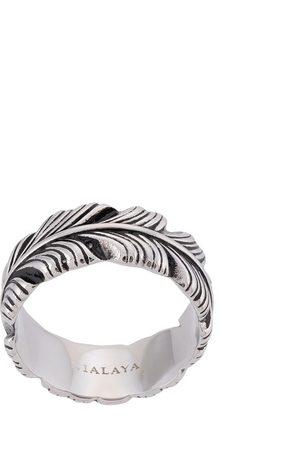 Nialaya Feather engraved ring