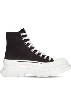 Alexander McQueen Men Sneakers - 50mm High-top Cotton Canvas Sneakers