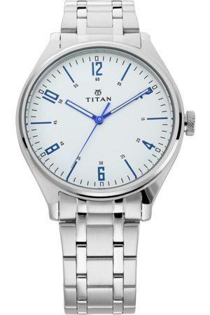 Titan Workwear Men White Analogue watch NL1802SM01