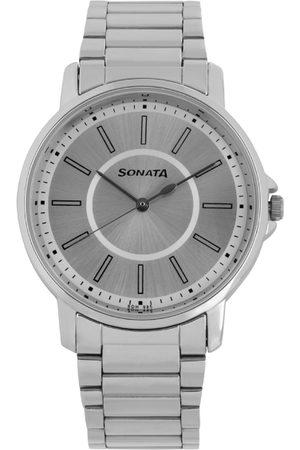 Sonata Essentials Men Silver Analogue watch NL77083SM03
