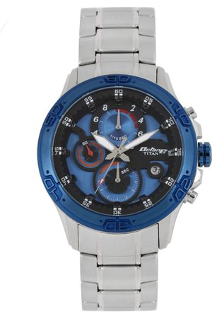 Titan Men Navy Blue Analogue Watch 90047KM02