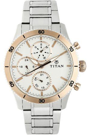 Titan Purple OTS 3 Wells Men Silver Analogue watch NL90105KM02