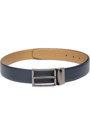 Ralph Lauren Men Tan Brown Textured Reversible Leather Belt