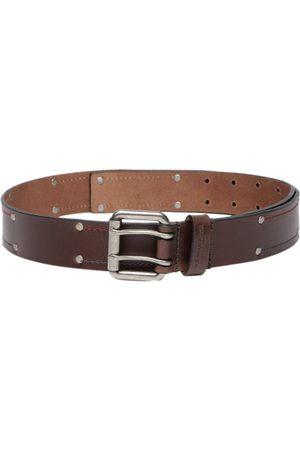 Ralph Lauren Men Brown Solid Leather Belt