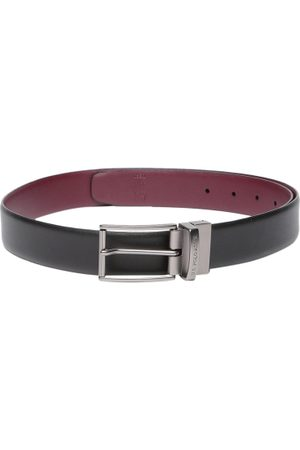 Ralph Lauren Men Burgundy & Black Reversible Leather Belt