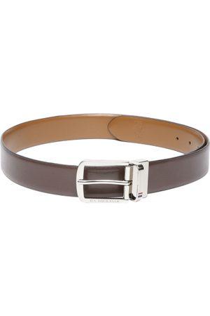 Ralph Lauren Men Belts - Men Tan Brown Solid Reversible Leather Belt