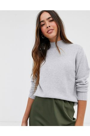 Vila Knitted jumper with high neck in