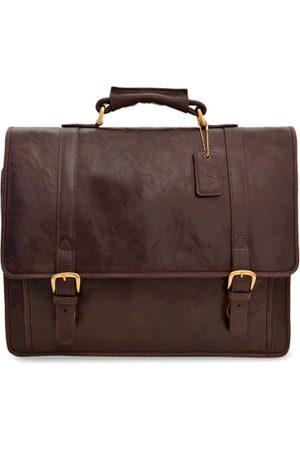 Hidesign Men Brown Solid Laptop Bag