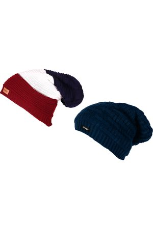 Knotyy Men Set of 2 Solid Beanies