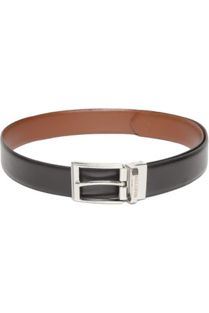 Benetton Men Black & Brown Solid Reversible Leather Belt