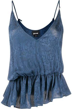 Roberto Cavalli Women Vests - Snakeskin print cami top