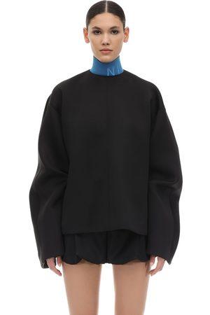Nina Ricci Neoprene Sweater W/knot Detail