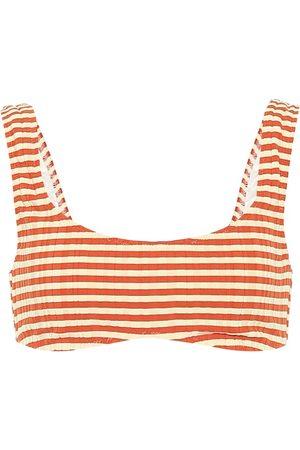 Solid The Elle striped bikini top