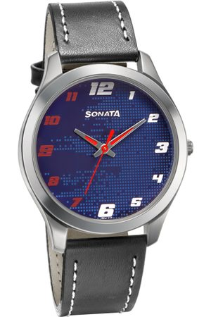 Sonata Men Blue Analogue Watch 77063SL07