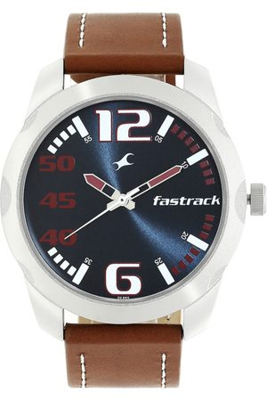 Fastrack Men Blue Leather Analogue Watch 3123SL05
