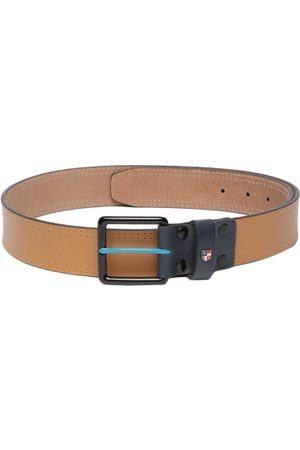 Ralph Lauren Men Tan Brown Solid Leather Belt
