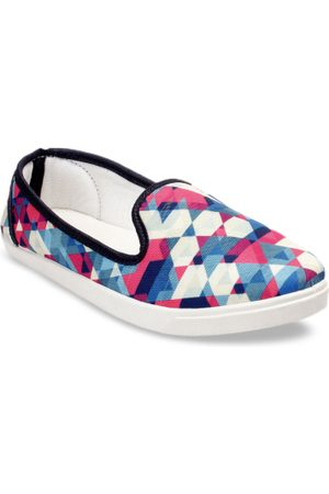 meriggiare Women Multicoloured Printed Slip-On Sneakers