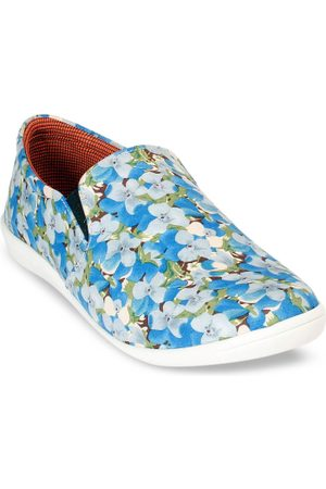 meriggiare Women Blue & White Printed Slip-On Sneakers