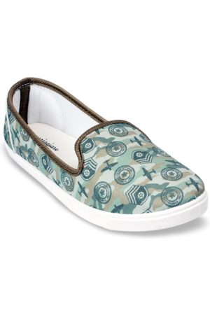 meriggiare Women Green Printed Slip-On Sneakers