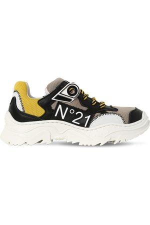 Nº21 Girls Sneakers - Leather & Mesh Sneakers