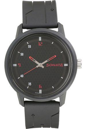 Sonata Volt Men Black Analogue watch 77085PP04