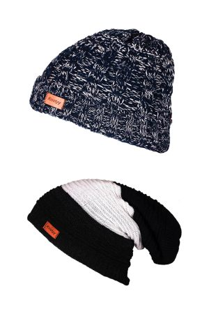 Knotyy Men Pack of 2 Beanie