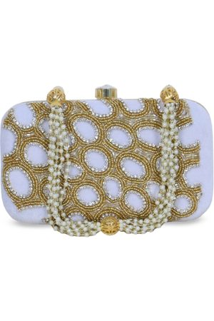 Diwaah Gold-Toned Embellished Box Clutch