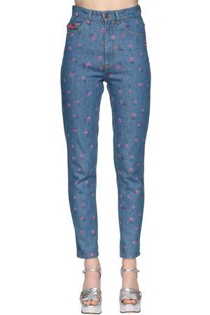 Marc Jacobs High Waist Printed Straight Jeans