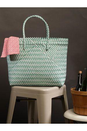 Chumbak Green Self Design Tote Bag