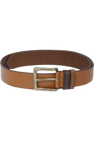 Roadster Men Tan Brown Solid Leather Belt