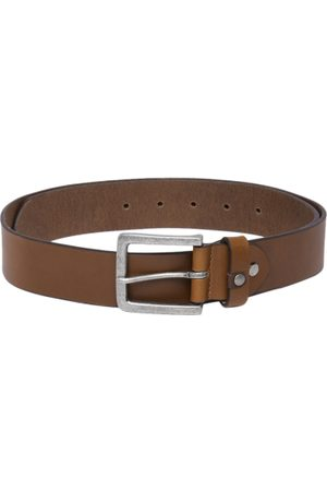 Roadster Men Tan Brown Solid Leather Belt