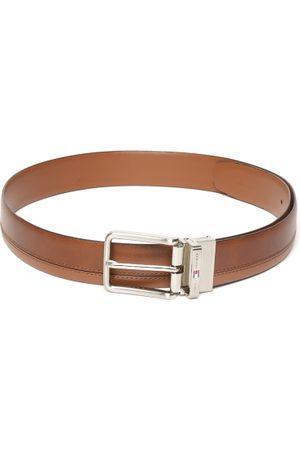 Tommy Hilfiger Men Brown Reversible Leather Solid Belt