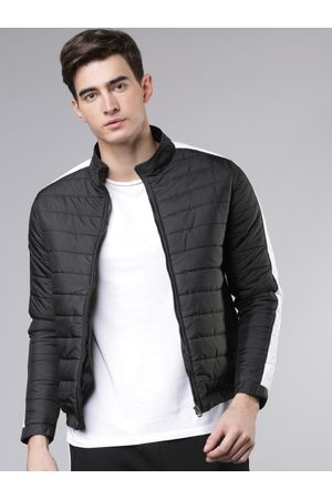 Highlander Men Jackets - Men Black Colourblocked Padded Jacket