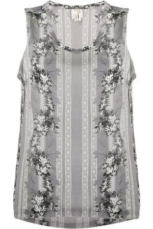 Comme des Garçons 1990's floral print sleeveless top