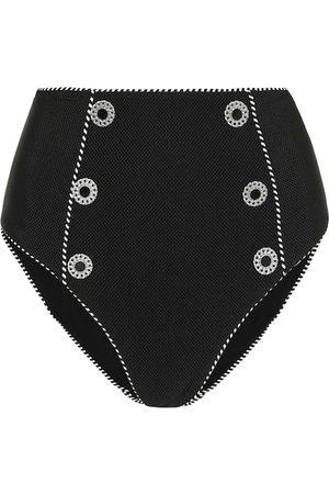 JONATHAN SIMKHAI Luxe Piped high-rise bikini bottoms
