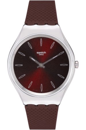 Swatch Unisex Burgundy Swiss Analogue Watch SYXS120