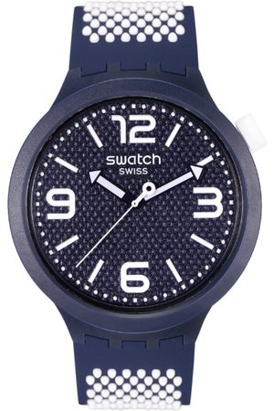 Swatch Unisex Navy Blue Swiss Analogue Watch SO27N101