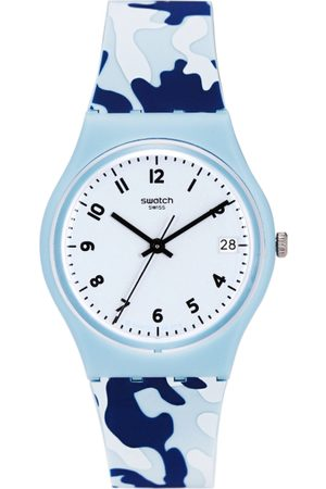 Swatch Unisex Blue Swiss Made Analogue Watch GS402
