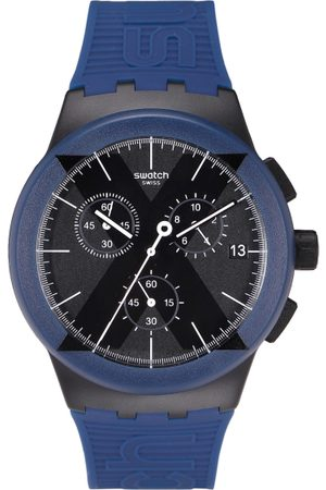 Swatch Unisex Black Swiss Made Chronograph Watch