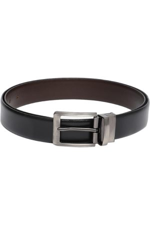 Boxer Men Black Reversible Solid Genuine Leather Belt BB2-02 B42