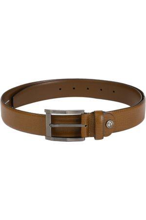 Boxer Men Belts - Men Tan Brown Textured Spanish Genuine Leather Belt BB3-04 B32