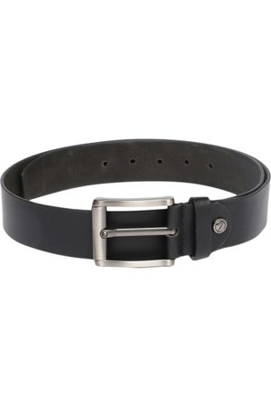 Boxer Men Black Solid Genuine Leather Belt BB1-01 B44