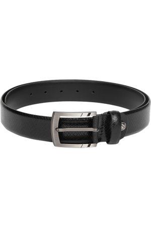 Boxer Men Black Textured Italian Genuine Leather Belt BB3-01 B34